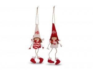 Postal: Dos graciosas muñecas de lana