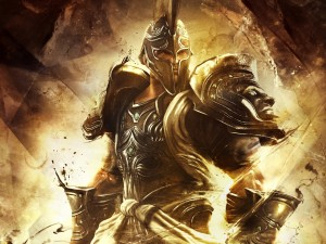 Postal: Dios de la guerra de Troya