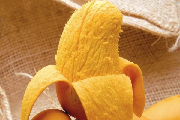 La carne amarilla de un mango