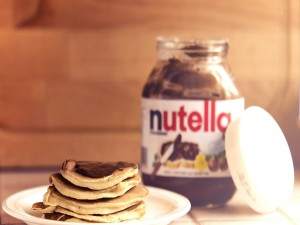 Tortitas con nutella