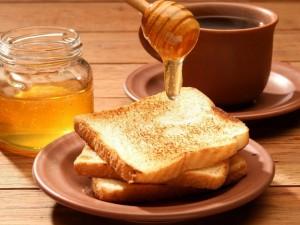 Postal: Tostadas con miel