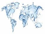 Mapamundi de agua