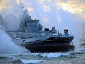 Embarcación anfibio de combate