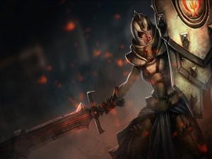 Chica con armadura y espada
