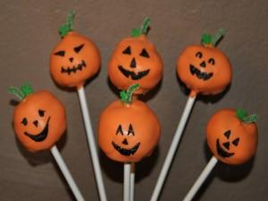 Cake pops de calabazas de Halloween