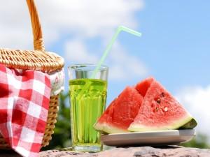 Sandia para un picnic en verano