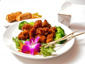 Cerdo agridulce y brócoli