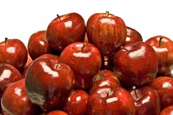 Brillantes manzanas rojas