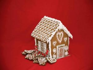 Postal: Gingerbread house para Navidad
