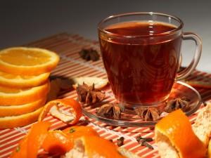 Té con naranja y anís estrellado