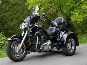 Una moto tres ruedas Harley-Davidson
