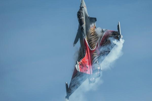 Un Dassault Rafale en el aire