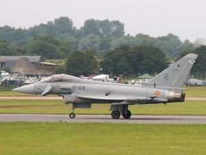 Un Eurofighter Typhoon del Ejército del Aire de España