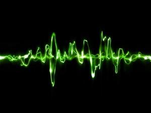 Líneas de pulsaciones verdes