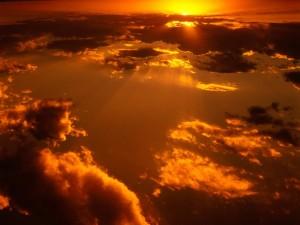 Atardecer en el cielo