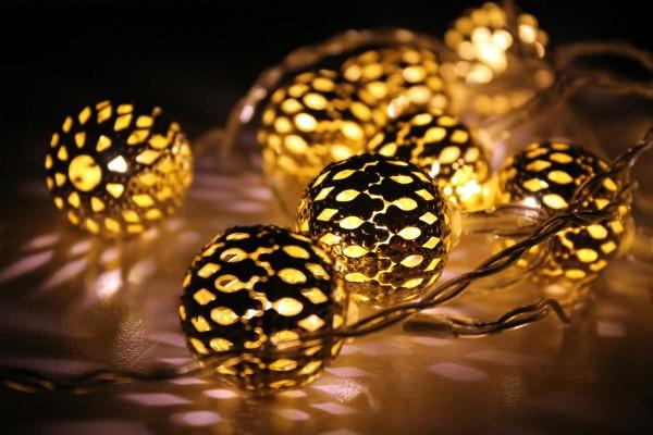 Bonitas luces redondas para iluminar en Navidad