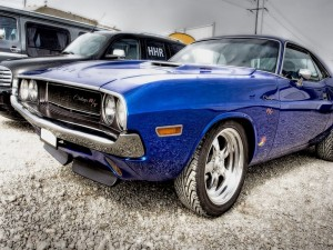 Dodge Challenger R/T color azul