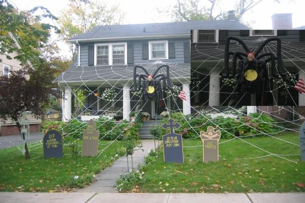 Casa decorada para el día de Halloween