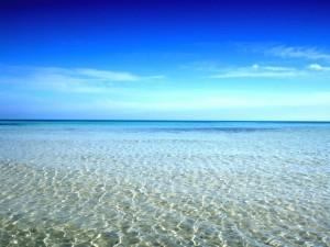 Agua de mar cristalina