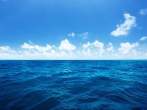 Postal: Océano azul