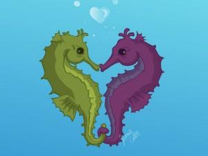 Caballitos de mar enamorados