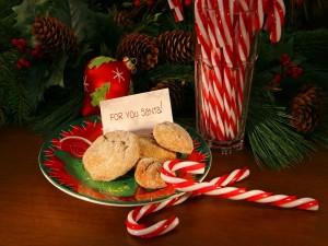Galletas y caramelos para Santa