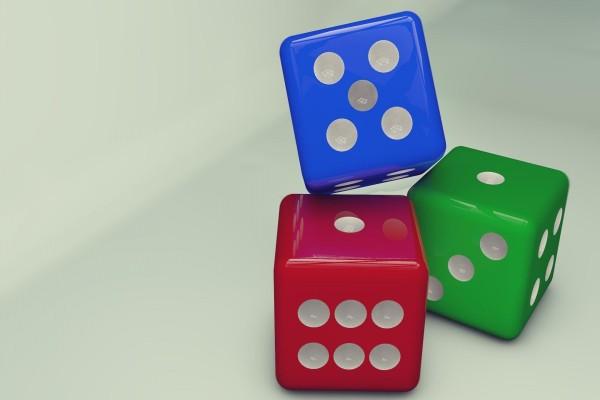 Dados 3D de colores