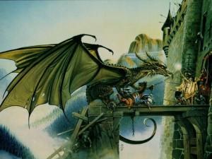 Un dragón al ataque