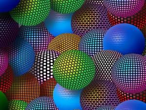 Bolas de neón de diferentes colores