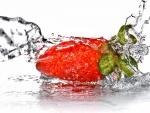 Agua sobre una gran fresa