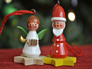 Dos figuritas para colgar en el árbol de Navidad