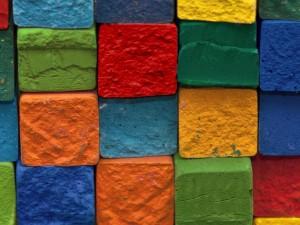 Postal: Ladrillos de colores