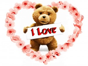 Postal: Ted demostrando su amor