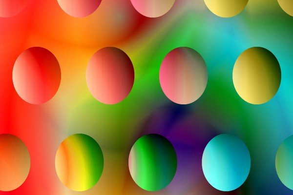 Círculos de varios colores