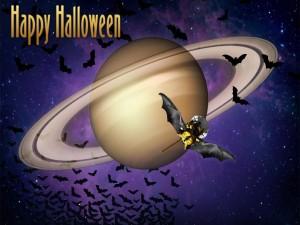 Postal: ¡Feliz Halloween! desde el espacio