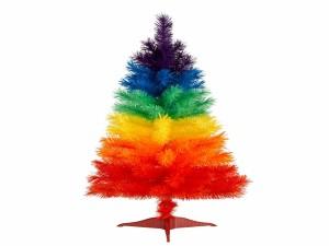 Postal: Abeto de Navidad de varios colores