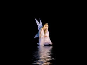 Postal: Ángel en la noche