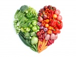 Corazón de verduras