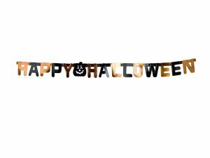 """Postal: Guirnalda de """"Feliz Halloween"""""""