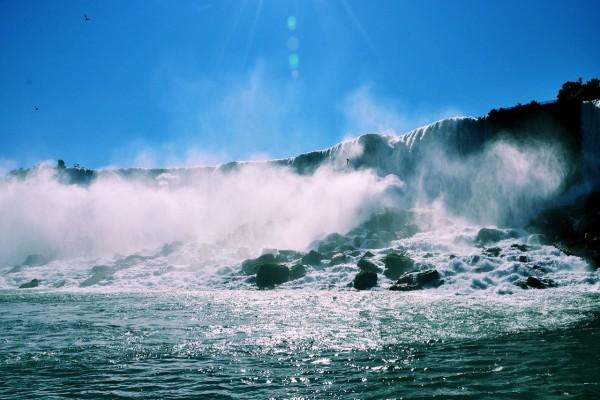 Impresionante catarata del Niágara
