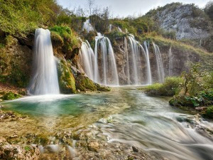 Cascadas en el Parque Nacional de Plitvice