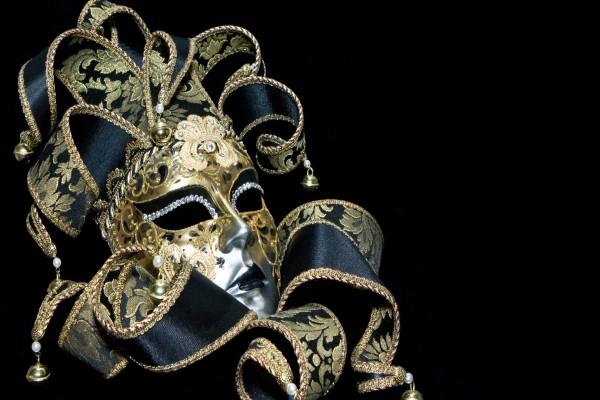 Elegante máscara para carnaval