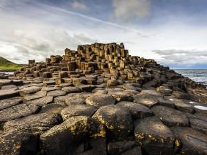 Postal: Calzada del Gigante en Irlanda del Norte