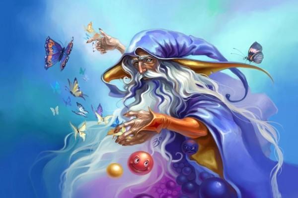 El mago Merlín entre mariposas