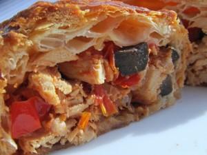 Postal: Empanada de hojaldre con un rico relleno