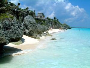 Postal: Hermosa playa en Tulum, México