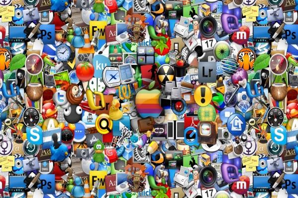 Logo de Apple e iconos