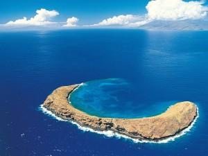 Isla paradisíaca en el océano