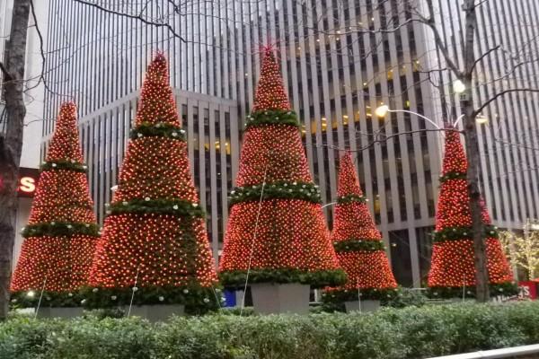 Decoración Navideña en una calle de Nueva York