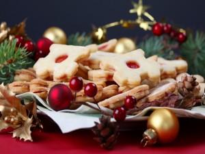 Postal: Galletas para comer en Navidad